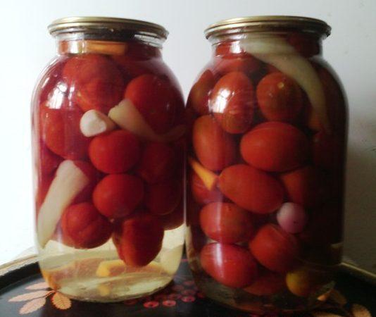 Маринованные помидоры в сладкой заливке