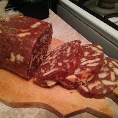 Шоколадная колбаска - рецепт с фото