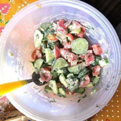 Фото рецепта - Простой и вкусный овощной салат - шаг 4