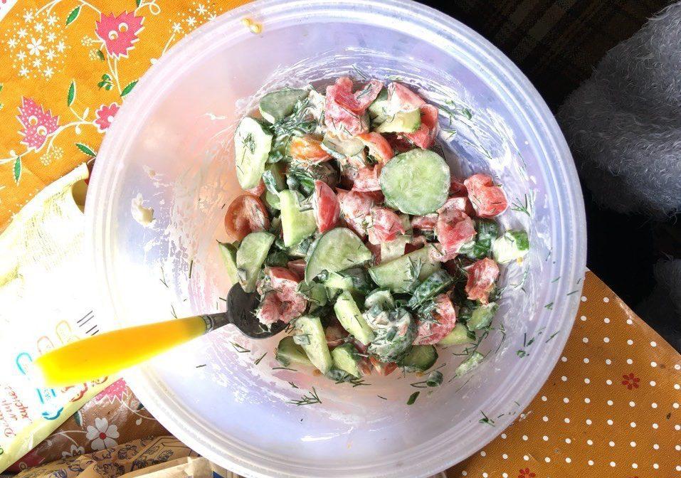 Простой и вкусный овощной салат