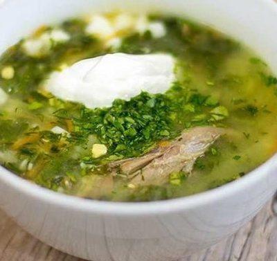 Зеленый борщ - рецепт с фото