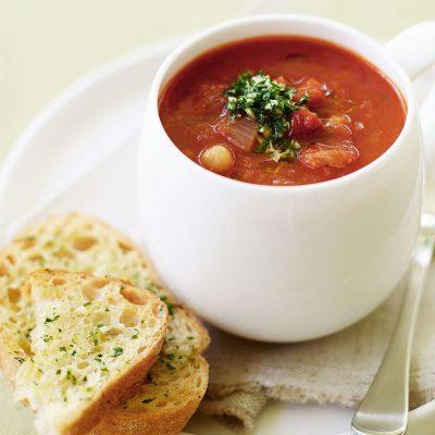 Диетический томатный суп с репой и горохом - рецепт с фото