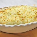 Запеканка из картофельного и овощного пюре с курицей