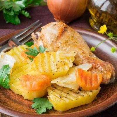 Куриные ножки в рукаве с овощами - рецепт с фото