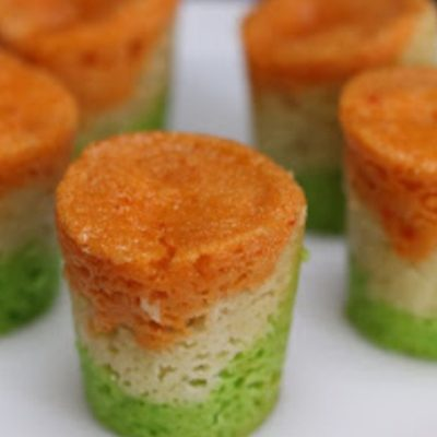 Слоеный мусс из сельдерея, кабачка, шпината и моркови - рецепт с фото