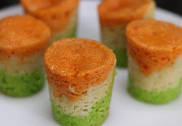 Слоеный мусс из сельдерея, кабачка, шпината и моркови