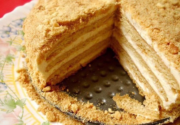 """Супер вкусный торт """"Ленивый медовик"""""""