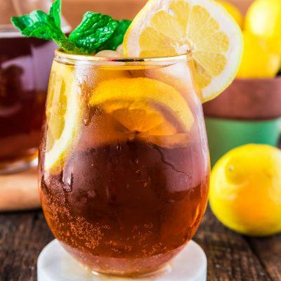 Холодный лимонный чай - рецепт с фото