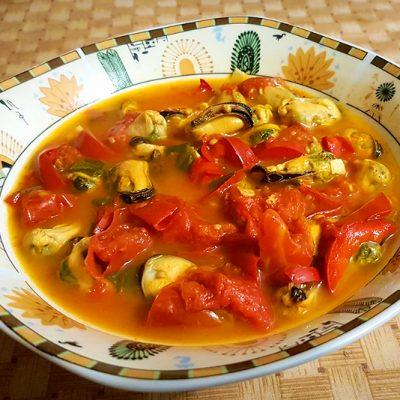 Острый суп с мидиями из Туниса - рецепт с фото