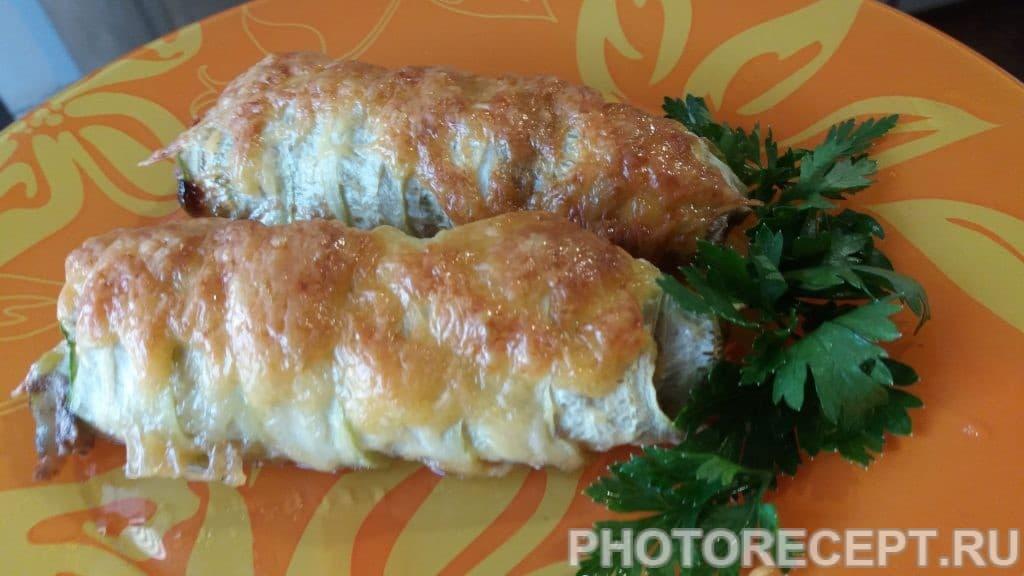 Фото рецепта - Рулетики из кабачка с фаршем - шаг 6