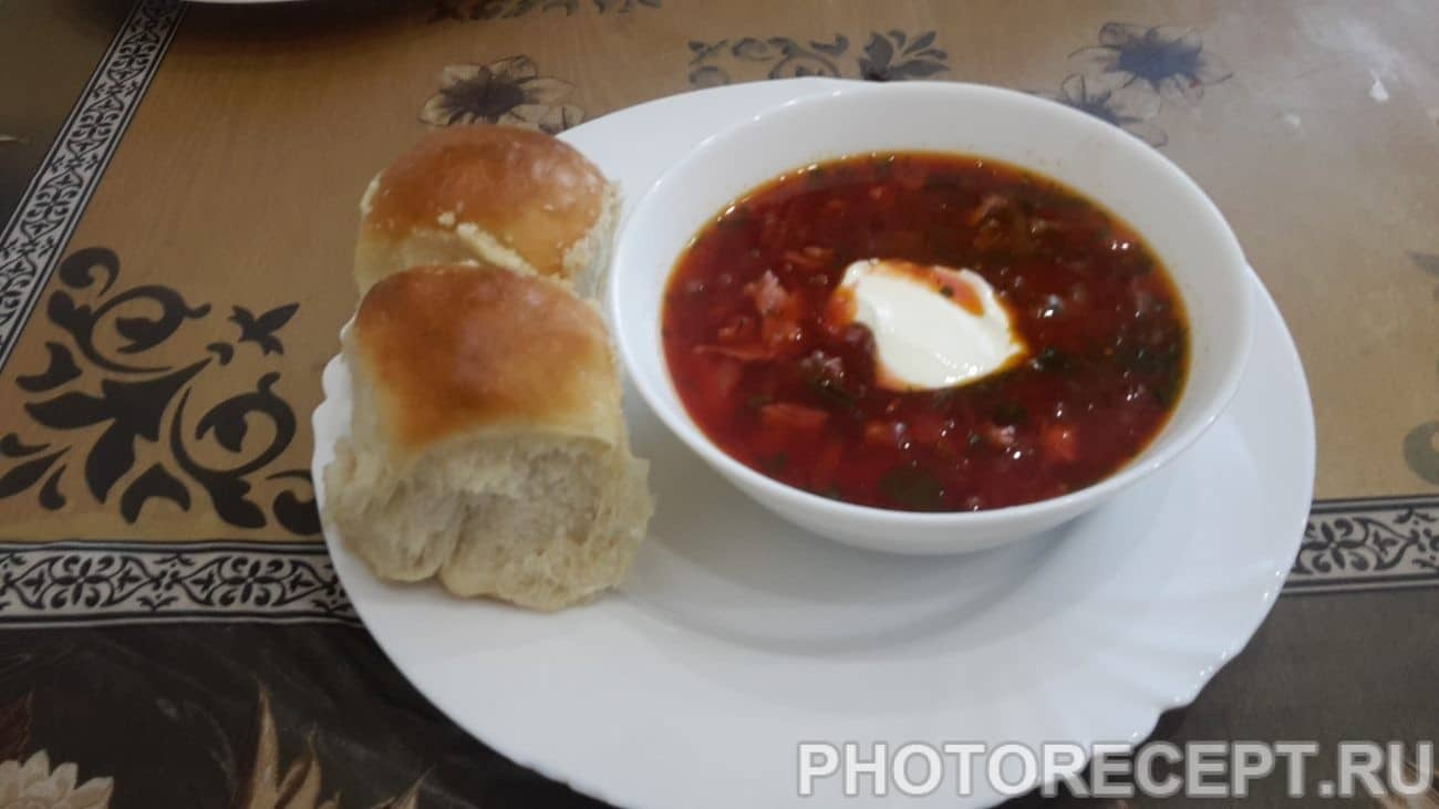Борщ с сосисками и крапивой - рецепт пошаговый с фото