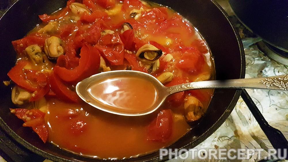 Фото рецепта - Острый суп с мидиями из Туниса - шаг 6