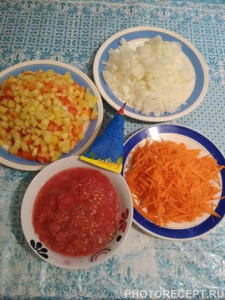 Фото рецепта - Овощное сате - шаг 3