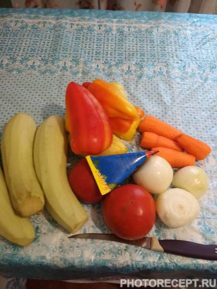 Фото рецепта - Овощное сате - шаг 1