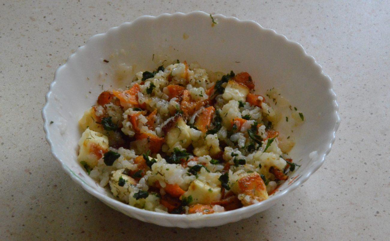 Вегетарианский плов с адыгейским сыром