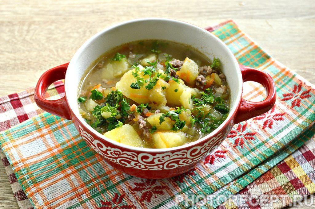 Фото рецепта - Картофель, тушеный с баклажанами и фаршем - шаг 6