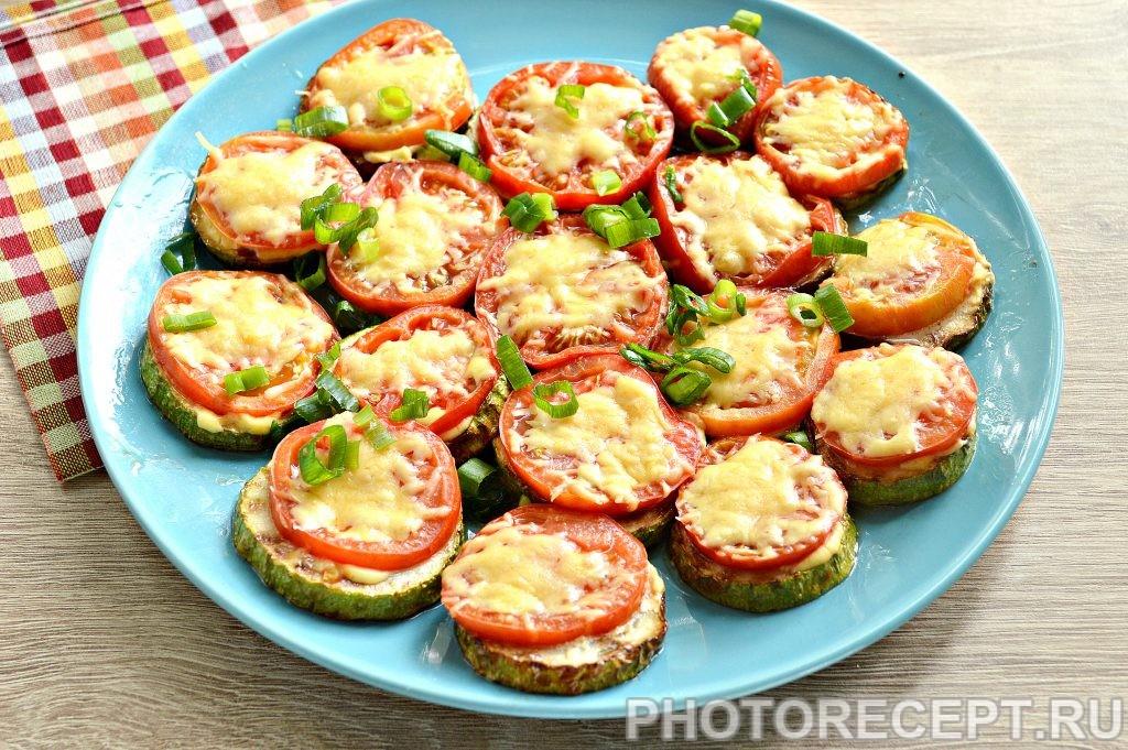 Фото рецепта - Кабачки с помидорами и сыром в духовке - шаг 7