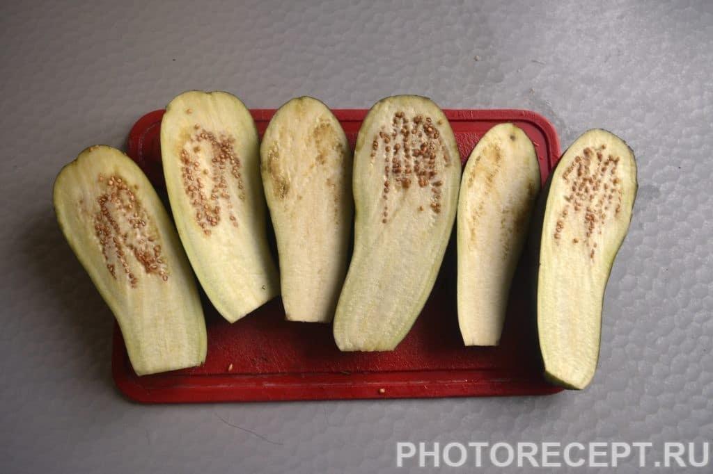 Фото рецепта - Запечёные баклажаны с овощами и сыром - шаг 2