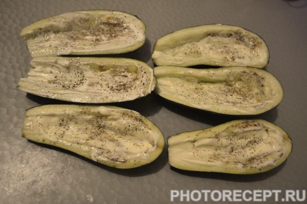 Фото рецепта - Запечёные баклажаны с овощами и сыром - шаг 3