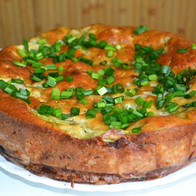 Закусочный пирог - рецепт с фото