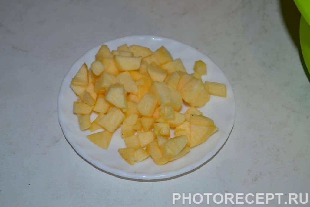 Фото рецепта - Оладьи с яблоками - шаг 4