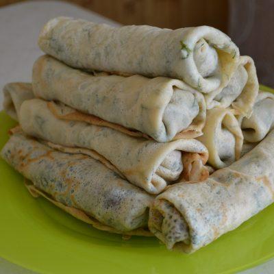 Блинчики с печенью и луком - рецепт с фото