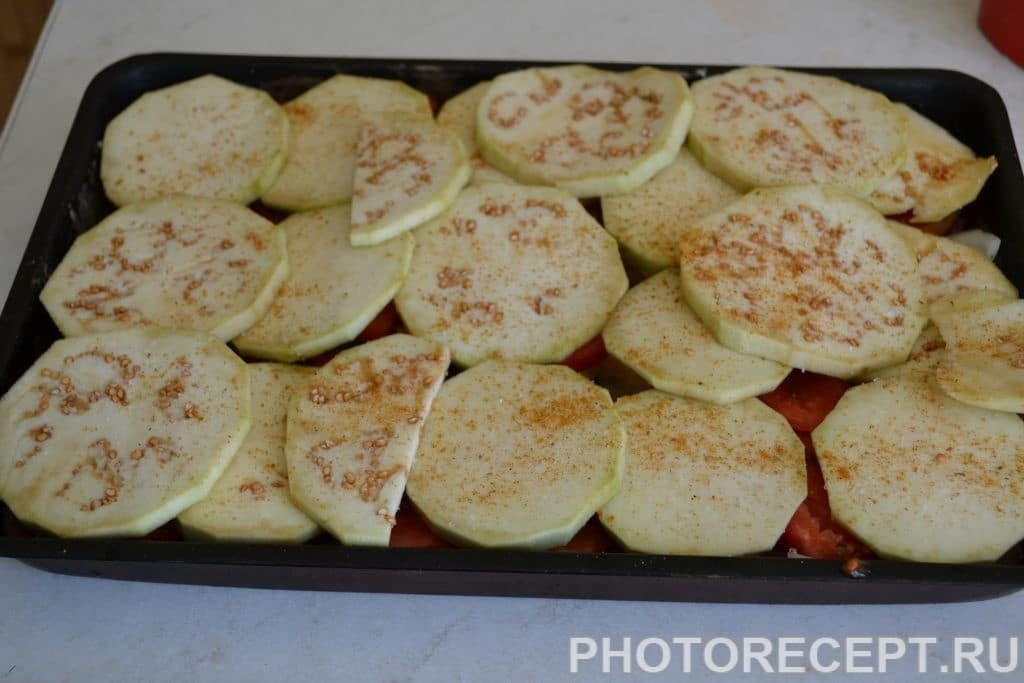 Фото рецепта - Запеченные овощи с фаршем - шаг 6