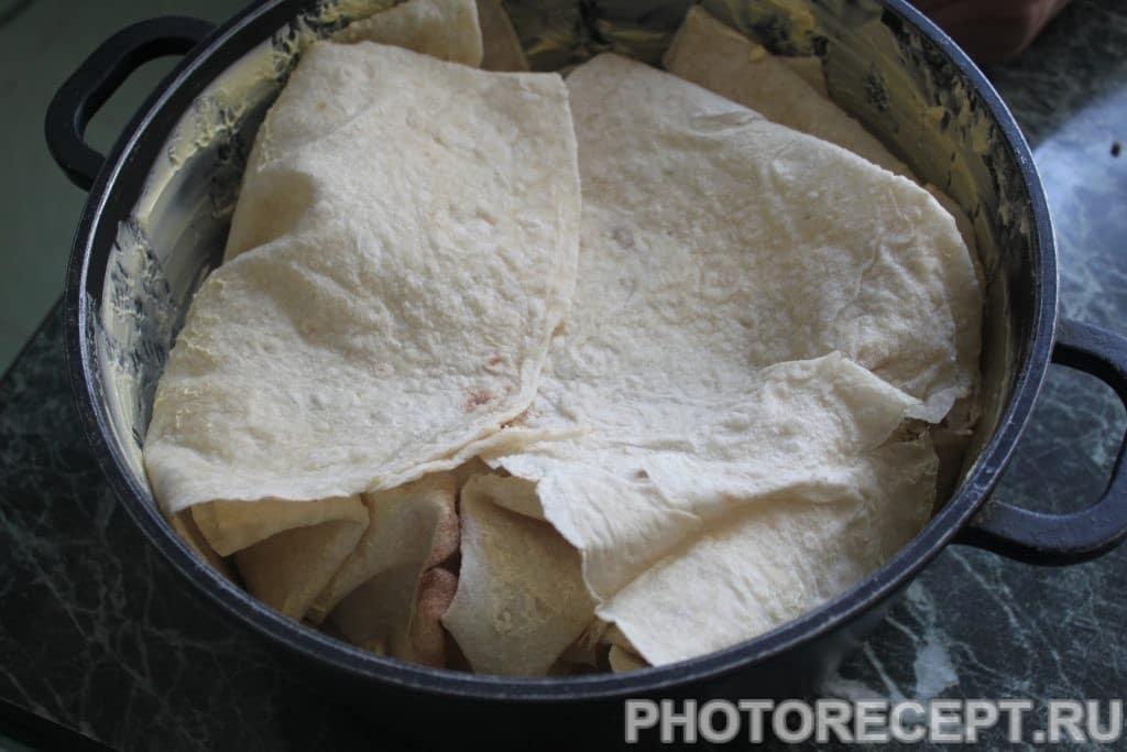 Фото рецепта - Запеченная рыба в лаваше - шаг 4