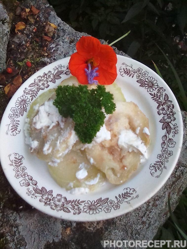 Фото рецепта - Жареные кабачки со сметаной - шаг 6