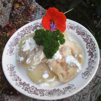 Жареные кабачки со сметаной - рецепт с фото