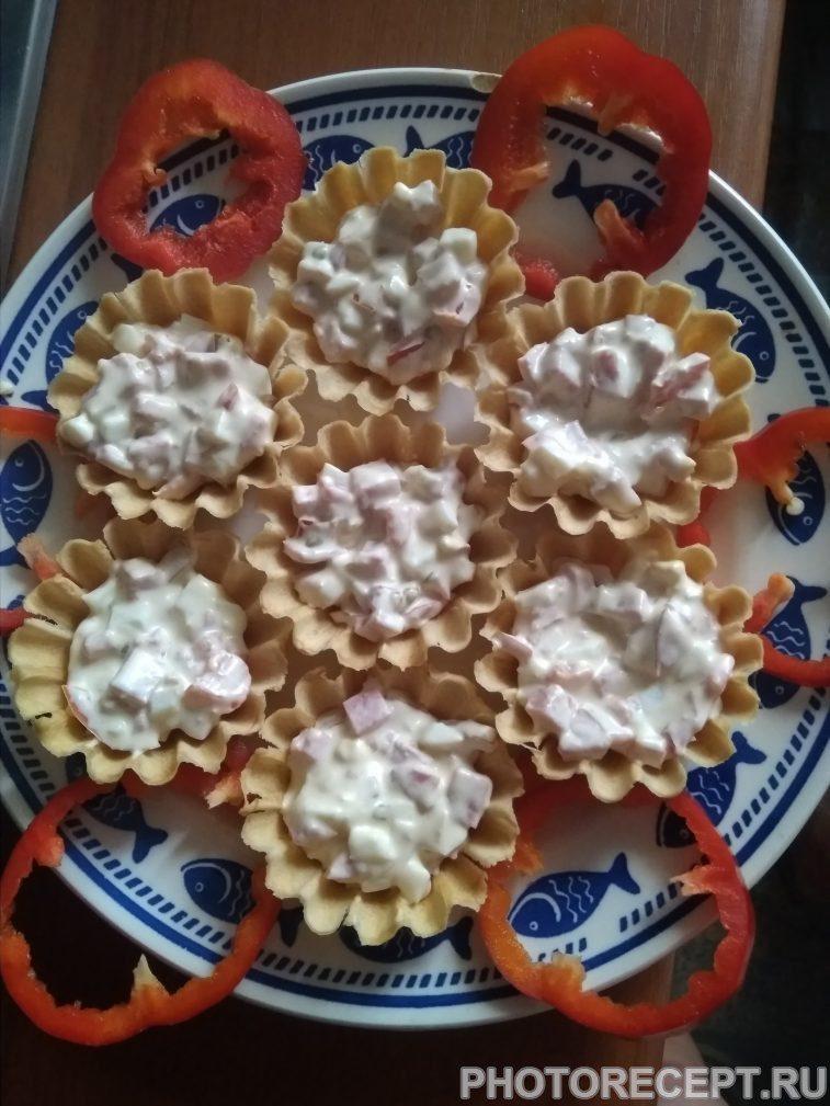 Фото рецепта - Тарталетки с начинкой - шаг 5