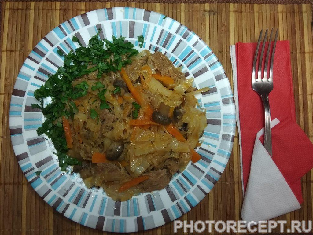 Фото рецепта - Солянка из капусты - шаг 7
