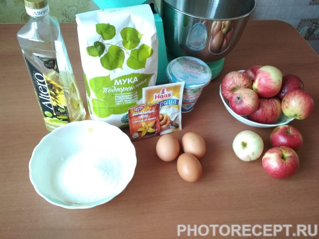 Фото рецепта - Яблочный торт - шаг 1