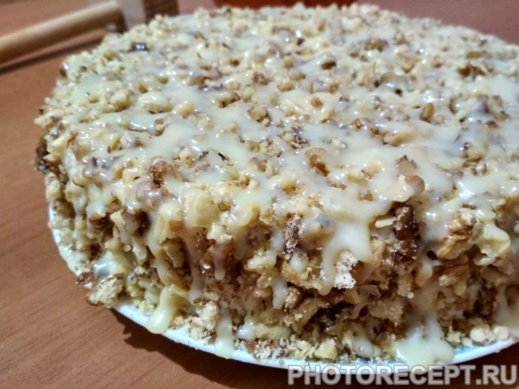 Нежный яблочный торт с коржами из песочного теста