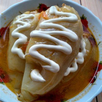 Перец фаршированный мясом и рисом - рецепт с фото