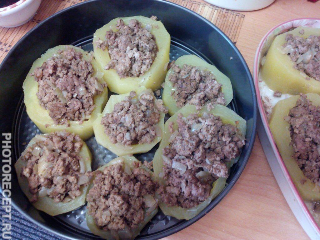Фото рецепта - Фаршированный кабачок мясом - шаг 6