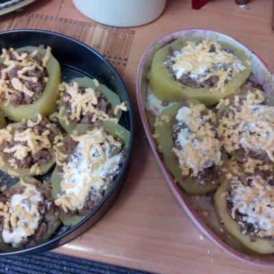 Фото рецепта - Фаршированный кабачок мясом - шаг 7