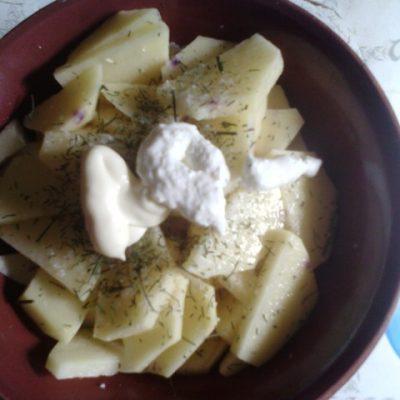 Фото рецепта - Открытый картофельный пирог с ржаной мукой - шаг 6