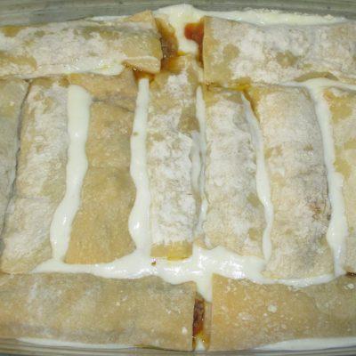 Фото рецепта - Каннеллони с мясным фаршем и соусом бешамель - шаг 7