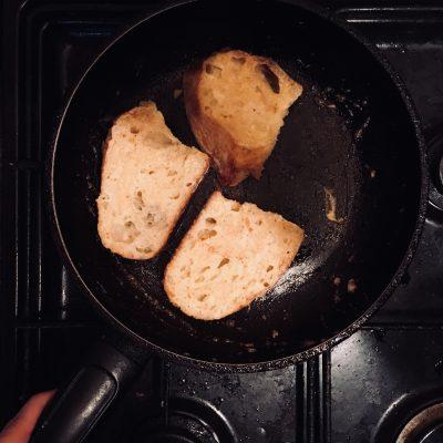 Фото рецепта - Завтрак по-французски: тосты с яблоками - шаг 3