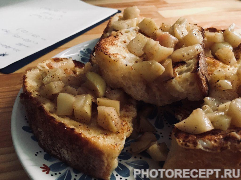 Фото рецепта - Завтрак по-французски: тосты с яблоками - шаг 4