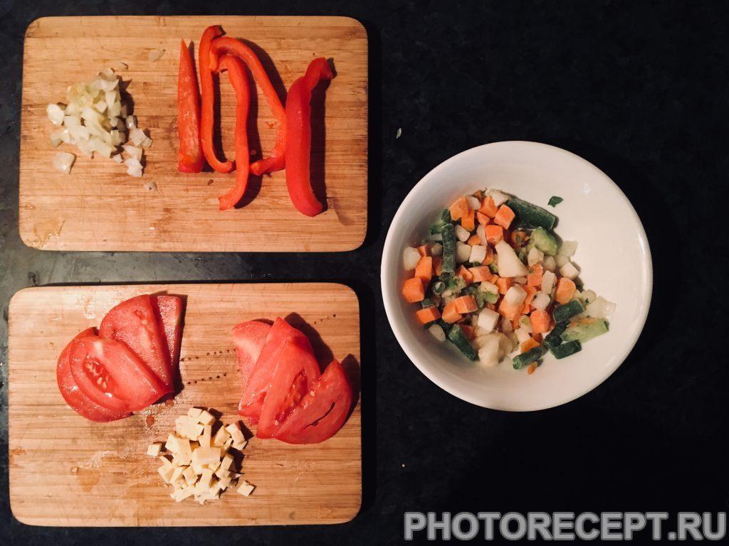 Фото рецепта - Итальянская фриттата на сковороде - шаг 1