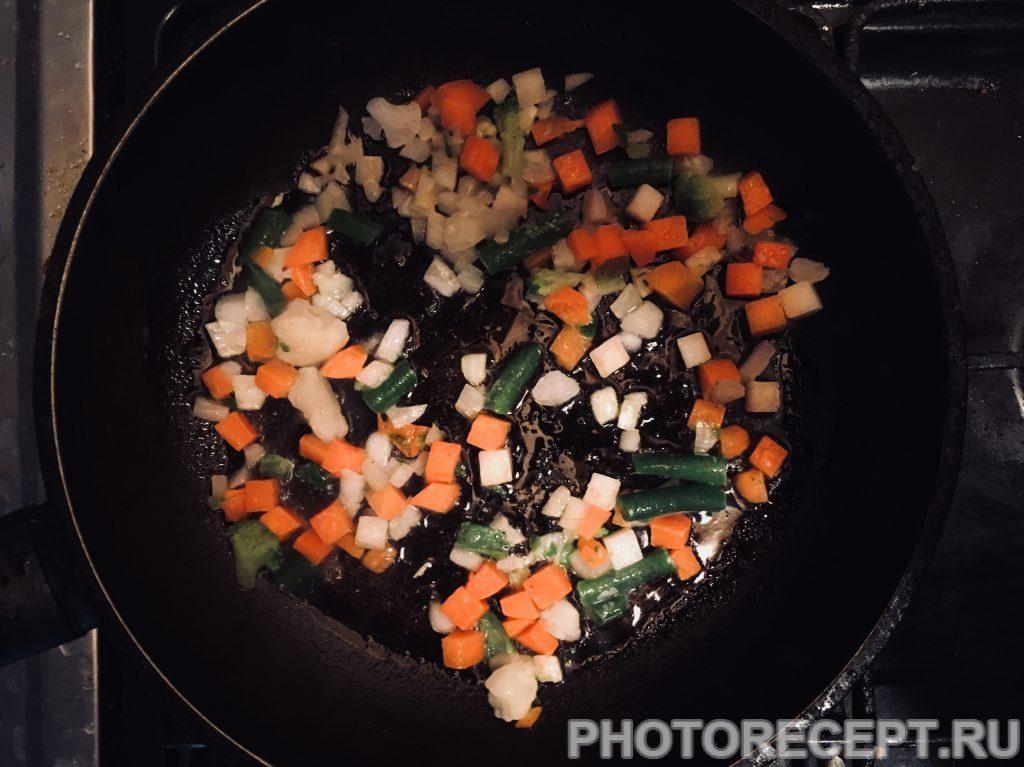 Фото рецепта - Итальянская фриттата на сковороде - шаг 2