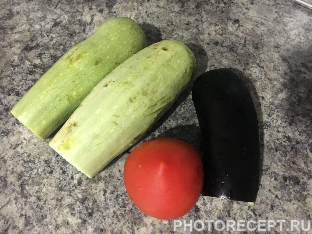 Фото рецепта - Запеченные овощи с начинкой - шаг 1