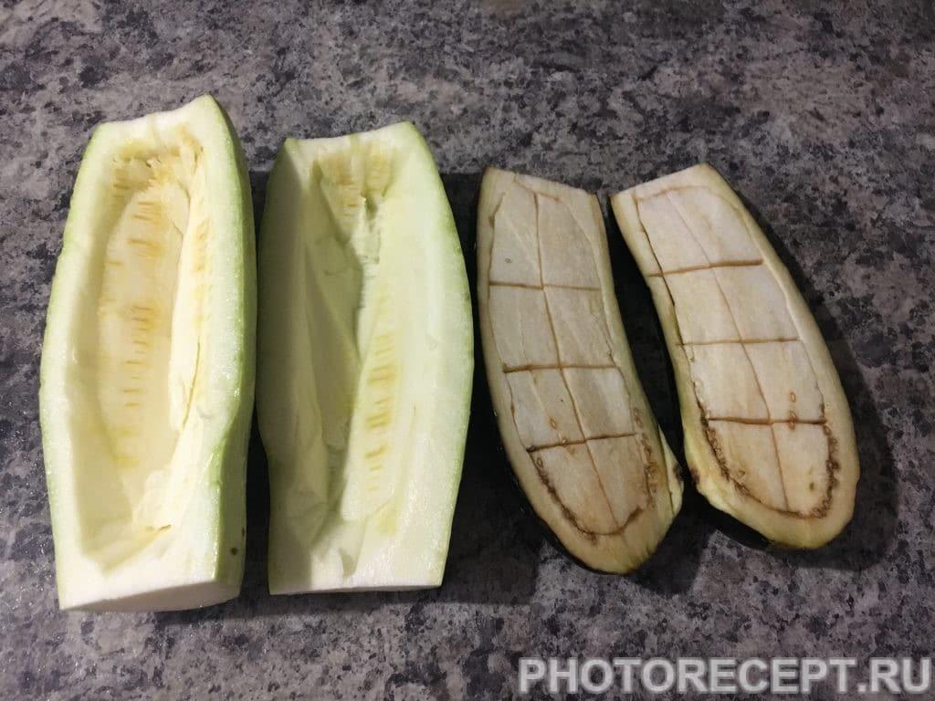 Фото рецепта - Запеченные овощи с начинкой - шаг 2