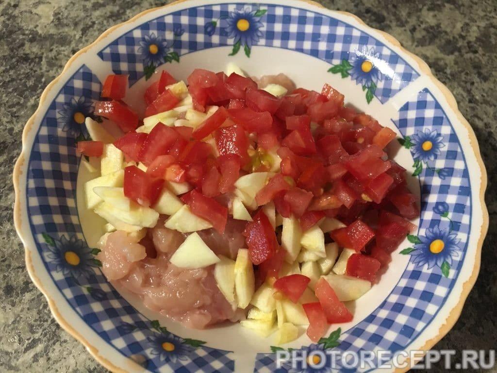 Фото рецепта - Запеченные овощи с начинкой - шаг 5
