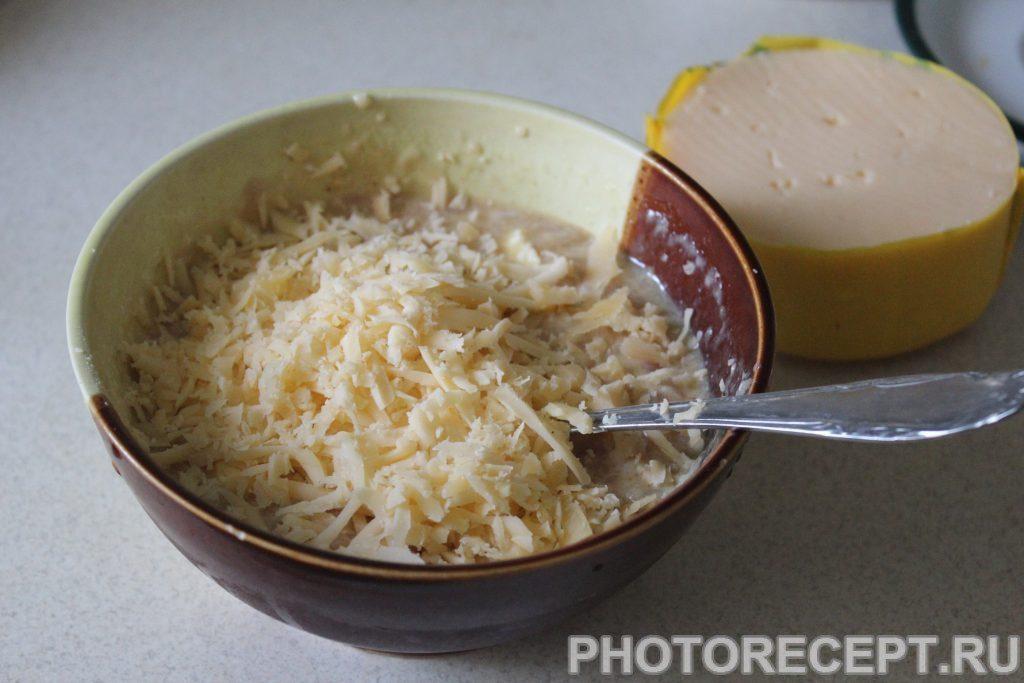 Фото рецепта - Сытные куриные блины с сыром - шаг 3