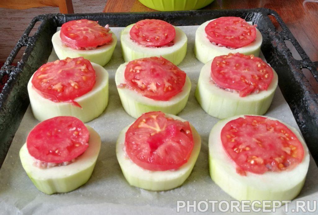 Фото рецепта - Запеченые кабачки с фаршем - шаг 5