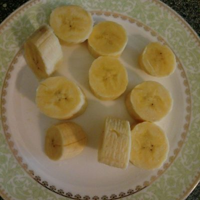 Фото рецепта - Панкейки с бананом без сахара и муки - шаг 2