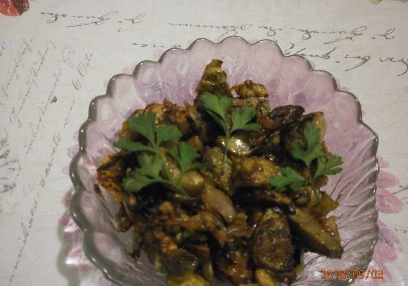 Баклажаны жареные под «грибы»